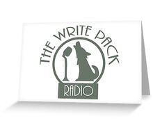 Write Pack Radio Gray Logo Greeting Card