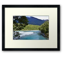 New Zealand Blue Pools Framed Print