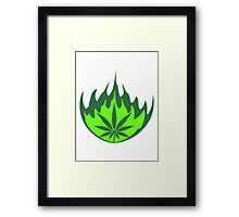 Weed fire burning flame Framed Print