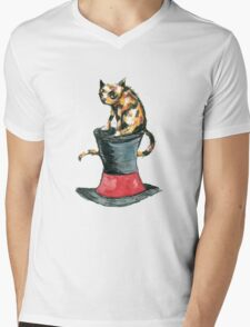 Cat on the Hat Mens V-Neck T-Shirt