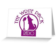 Write Pack Radio Purple Logo Greeting Card