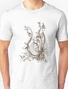 Sepia Abstract Unisex T-Shirt