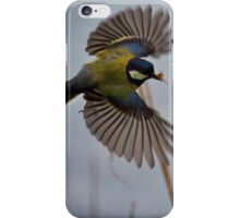 Great Tit with spider in beak iPhone Case/Skin