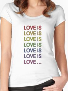 Love is... Women's Fitted Scoop T-Shirt