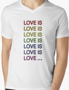Love is... Mens V-Neck T-Shirt
