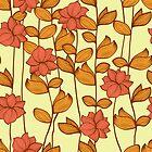 Orange flowers by Patternalized