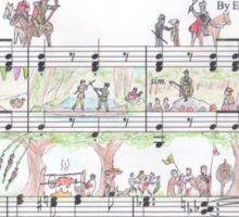 Adventures of Robin Hood Sheet Music Art Sticker