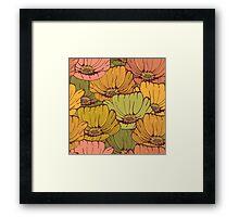 Vintage poppy flowers Framed Print