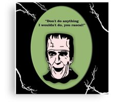 Herman Munster Canvas Print