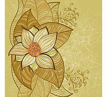 Vintage magnolia flower Photographic Print