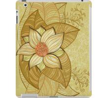 Vintage magnolia flower iPad Case/Skin