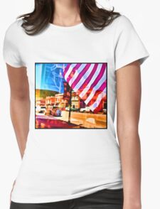 Window Reflections Womens Fitted T-Shirt
