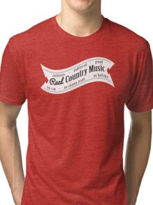 Real Country Music (white ink) Tri-blend T-Shirt
