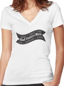 Real Country Music Women's Fitted V-Neck T-Shirt