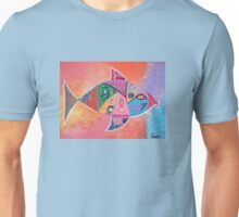 TROPICAL GRAFFITI FISH (bright) Unisex T-Shirt