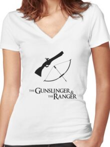 Critical Role - Percahlia (The Gunslinger and the Ranger) Women's Fitted V-Neck T-Shirt