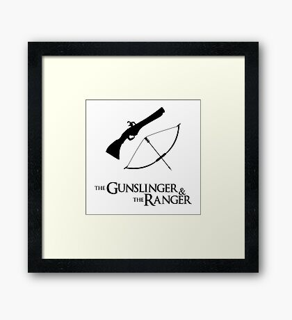 Critical Role - Percahlia (The Gunslinger and the Ranger) Framed Print