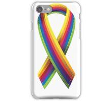 Rainbow ribbon iPhone Case/Skin