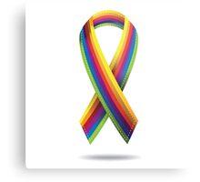 Rainbow ribbon Metal Print