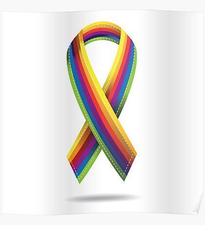 Rainbow ribbon Poster