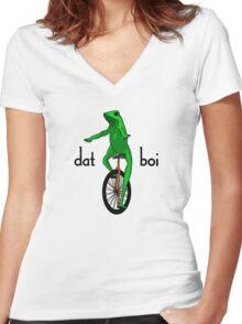 Dat Boi Meme V.2 Women's Fitted V-Neck T-Shirt