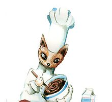 Chef Cat by Nicholas  Beckett