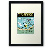 Fred the Mustard Packet Does a Self Directed Mental Health Exercise. Framed Print
