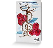 Music Note Tree Greeting Card