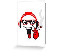 Joint DJ music headphones glasses Greeting Card