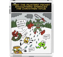 Fred the Mustard Packet Encounters Sparkles the Christmas Ninja. iPad Case/Skin