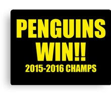 Penguins Win! Canvas Print