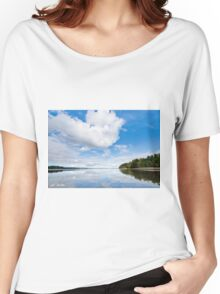 Clouds Reflected in Puget Sound Women's Relaxed Fit T-Shirt