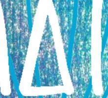 Mermaid Shell Alpha Delta Pi Sticker
