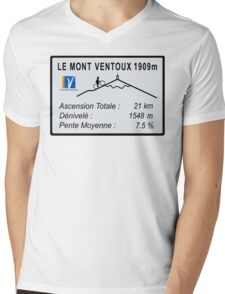 Mont Ventoux Cycling Mens V-Neck T-Shirt