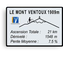 Mont Ventoux Cycling Canvas Print