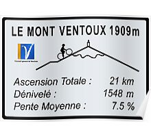 Mont Ventoux Cycling Poster