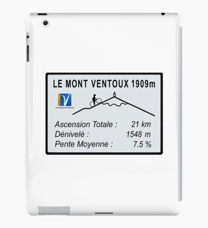 Mont Ventoux Cycling iPad Case/Skin