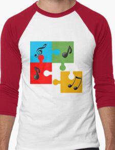 Puzzle music Men's Baseball ¾ T-Shirt