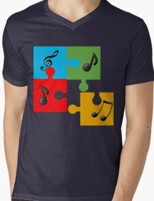 Puzzle music Mens V-Neck T-Shirt