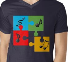 Puzzle music Mens V-Neck T-Shirt