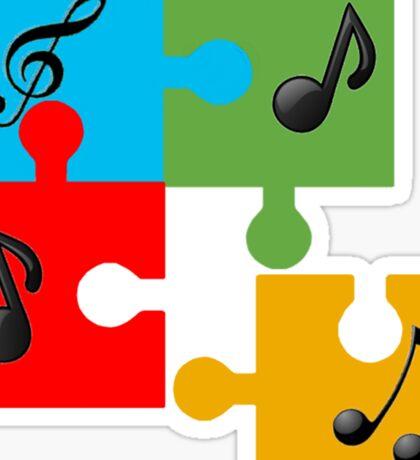 Puzzle music Sticker