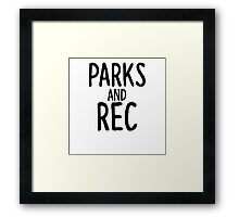 Parks and Rec Framed Print