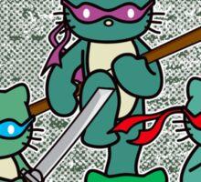 Hello Mutant Ninja Kitties Sticker