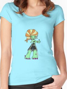Sushi Godzilla by Lolita Tequila Women's Fitted Scoop T-Shirt