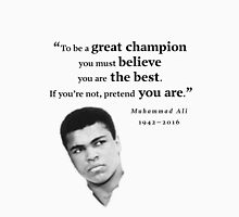 Muhammad Ali - To be a Great Champion Womens Fitted T-Shirt