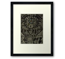 Burning the Outer Circle.  Framed Print