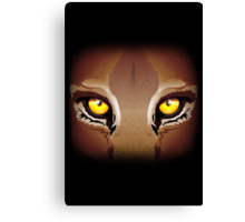 Wild Puma Eyes Canvas Print
