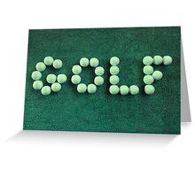 Golf Balls #2 Greeting Card