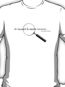 Le language est la source de malentendus. T-Shirt