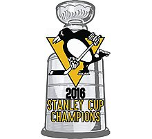 2016 Pittsburgh Penguins Stanley Cup Champions Photographic Print